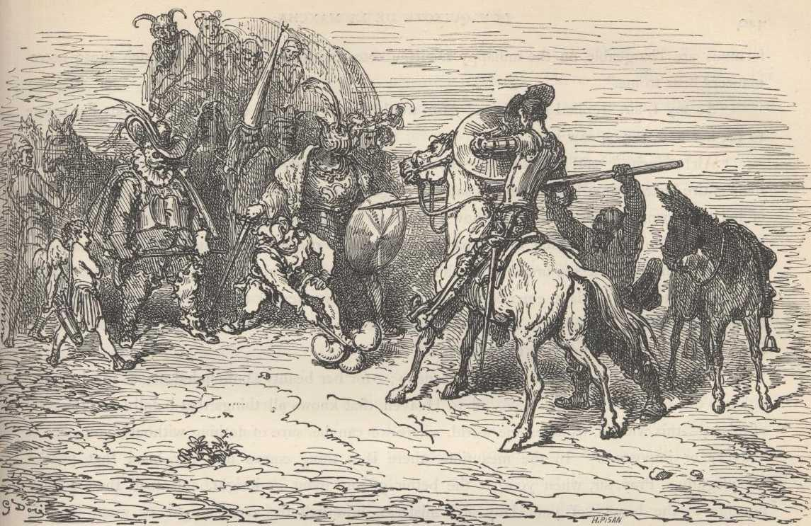 don quixote by miguel de cervantes chapter xi of the strange adventure which the valiant don quixote had the car or cart of the cortes of death