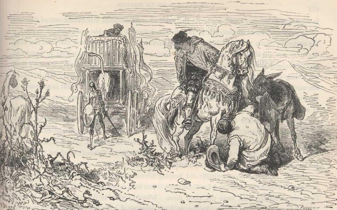 don quixote by miguel de cervantes chapter xvii wherein is shown the furthest and highest point which the unexampled courage of don quixote reached or could reach together the happily achieved