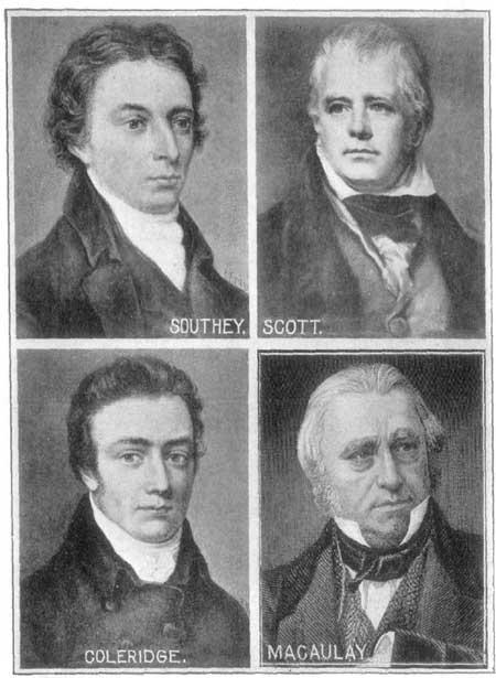 Southey, Scott, Coleridge, Macaulay.