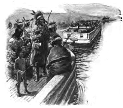Indian Evacuation by River 223l